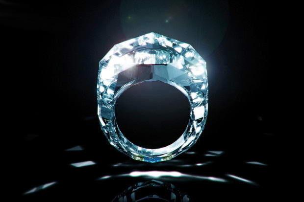 Jedyny na Świecie pierścionek cały z brylantu