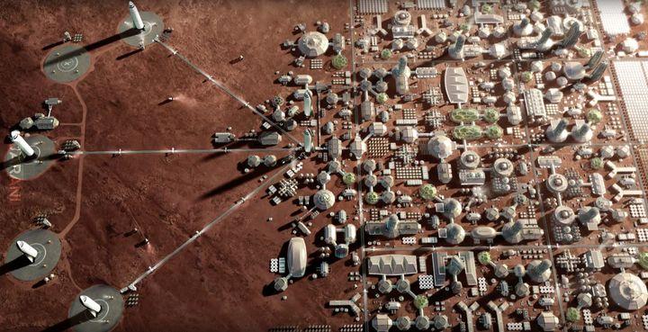 Elon Musk-a plan na marsjańskie miasto