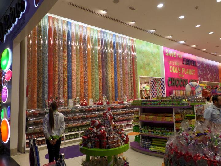 sklep z cukierkami w Dubaju