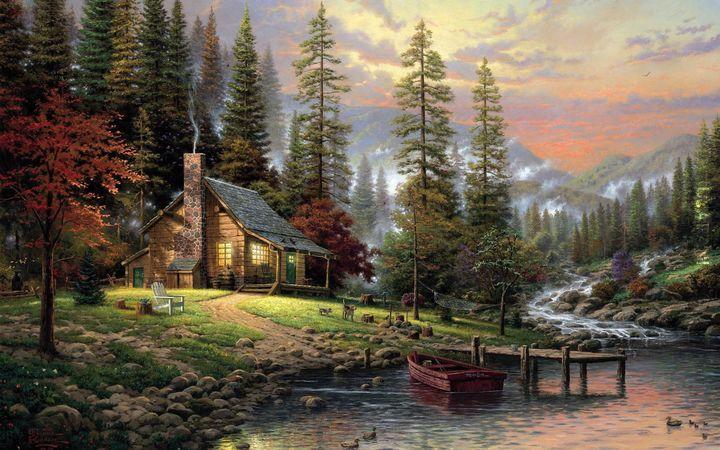 Thomas Kinkade , A peaceful retreat