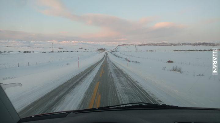 Zima, w drodze do domu