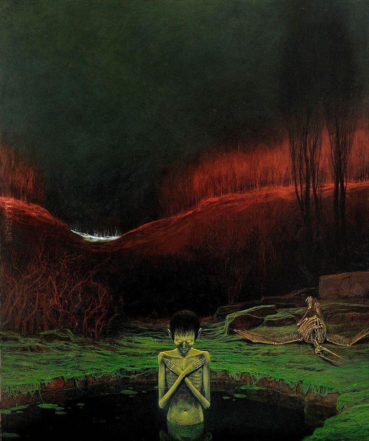 Obraz Mistrza Beksińskiego: Bez tytułu, 1976.