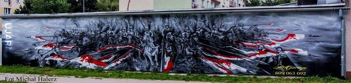 Mural w Sanoku. Wykonali: Mariusz Pasowicz i Marek Szatkowski.