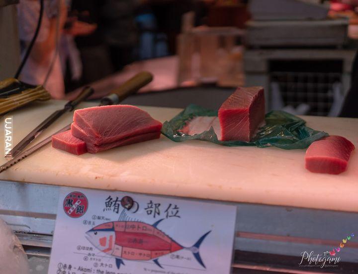 Świeży tuńczyk w Tokio