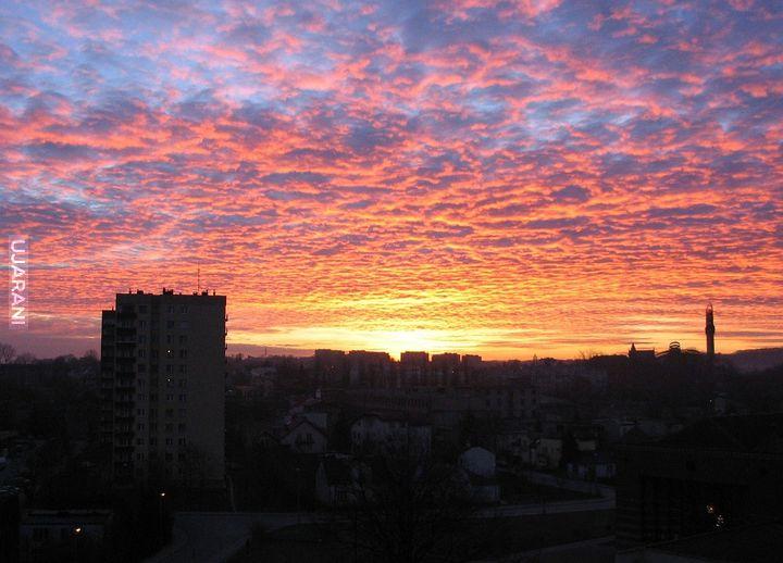 Wshód słońca nad Krakowem - 2005