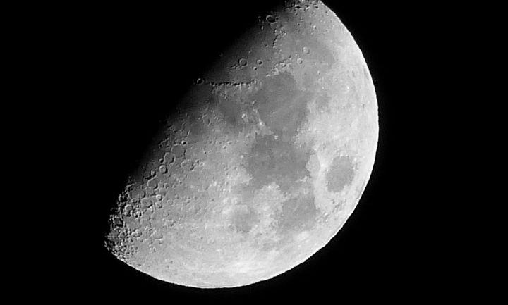 Księżyc dzień po I kwadrze