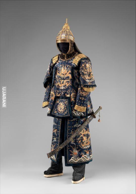 strój oficera straży cesarza chin XVIII w
