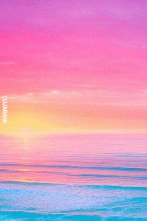 Pastel sunset in Bali.