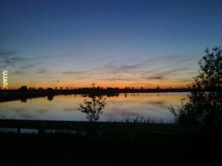 Zachód słońca nad moimi terenami