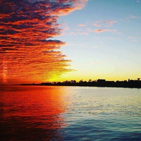 Zachód słońca w połowie drogi:)