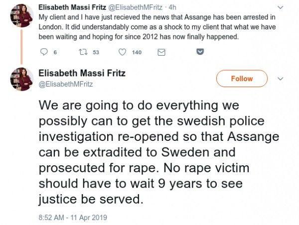 """Julian Assange aresztowany """"w imieniu władz USA"""". Grozi mu 5 lat więzienia"""