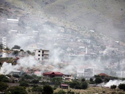 Police burn 25 tonnes of marijuana in Albanian village