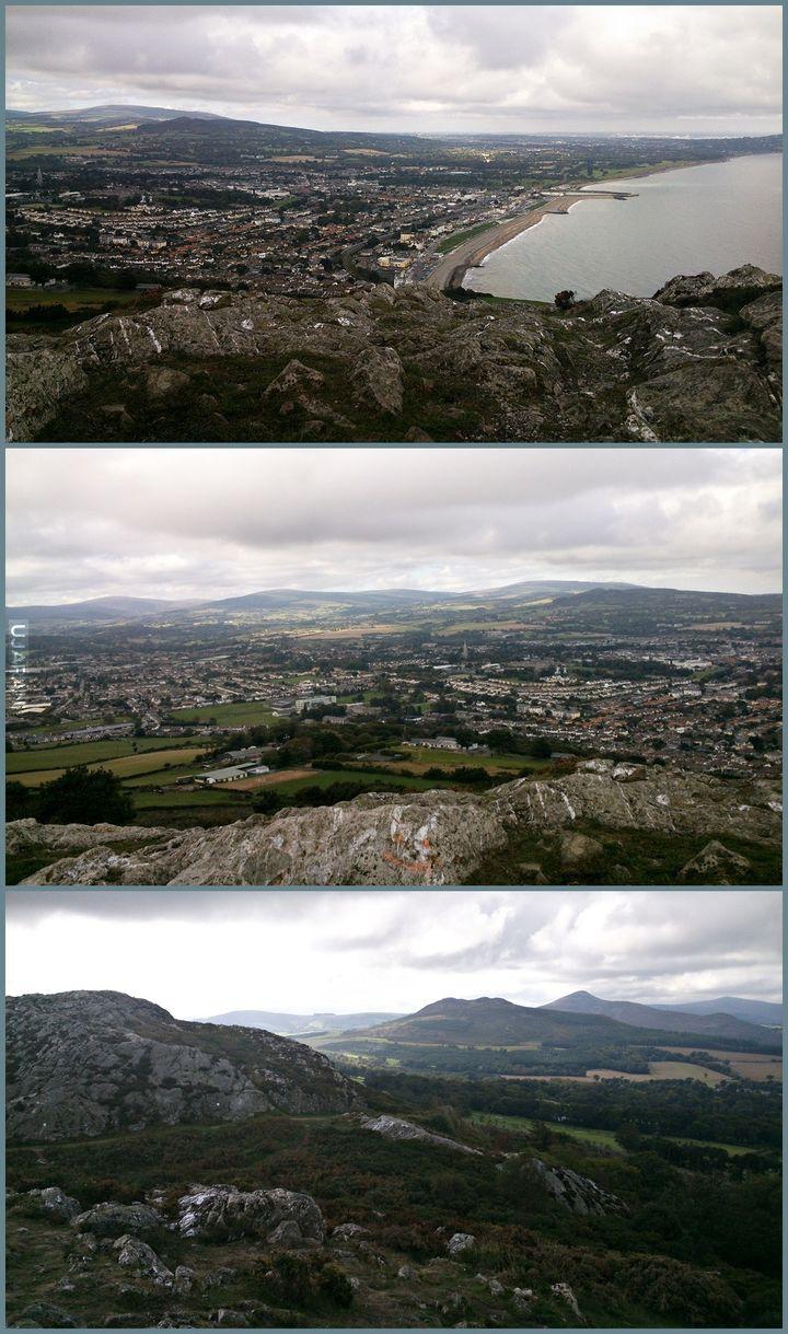 Irlandia - widok z Bray Head