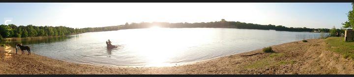 Wczorajszy trip nad jeziorko.