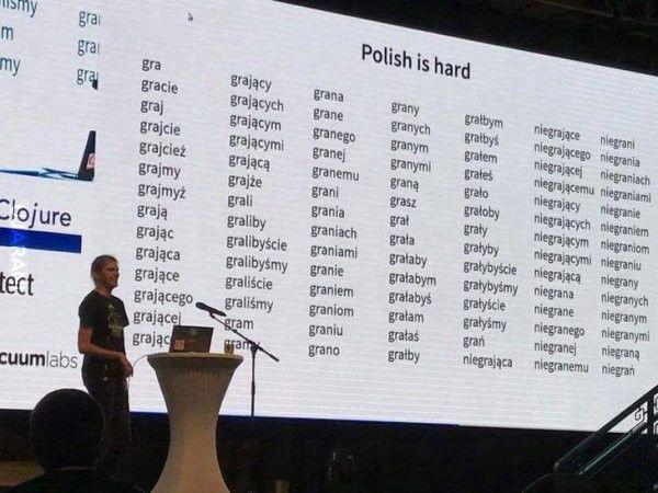 Polski jest trudny...
