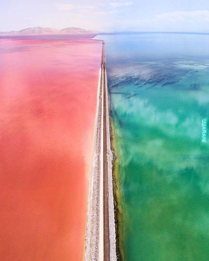 Wielkie słone jezioro w Utah