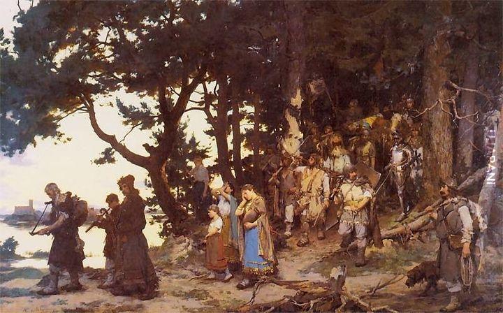 Pogrzeb Giedymina (1888 rok; olej na płótnie)