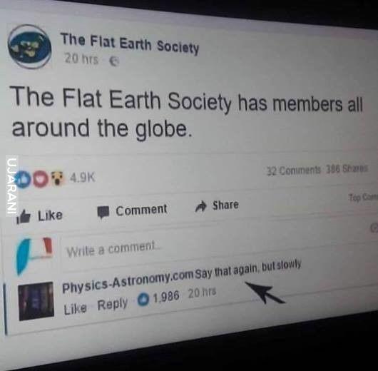 To mówisz, że ziemia jest płaska?