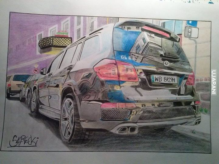 Mój nowy rysunek mercedesa gl63