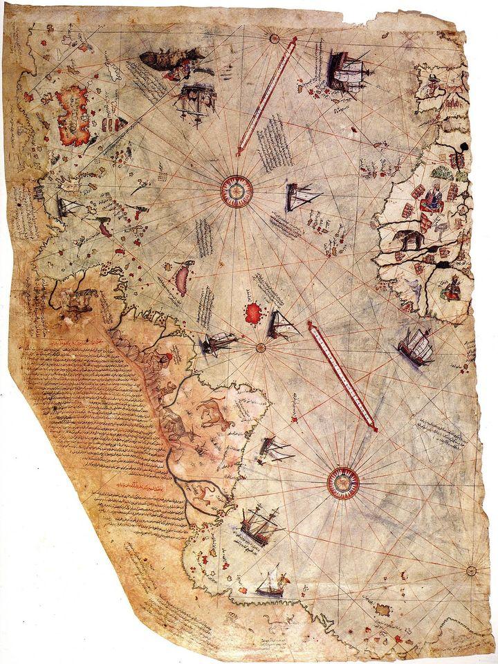 MAPA Admirała PIRI REISa - 1513 rok