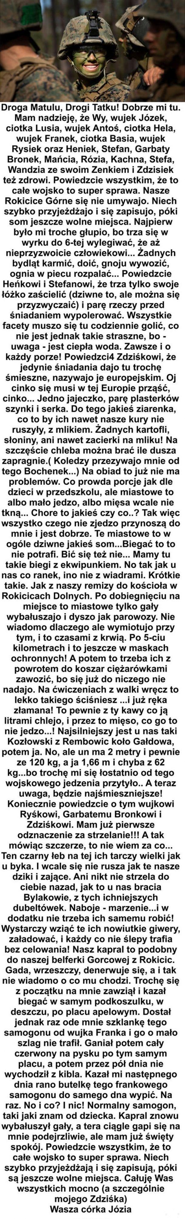 List z koszar