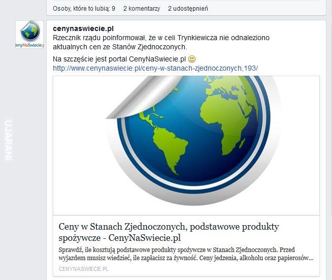 Post o Trynkiewiczu