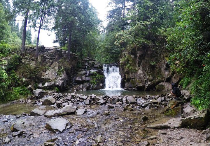 Wodospad Zaskalniak / Szczawnica