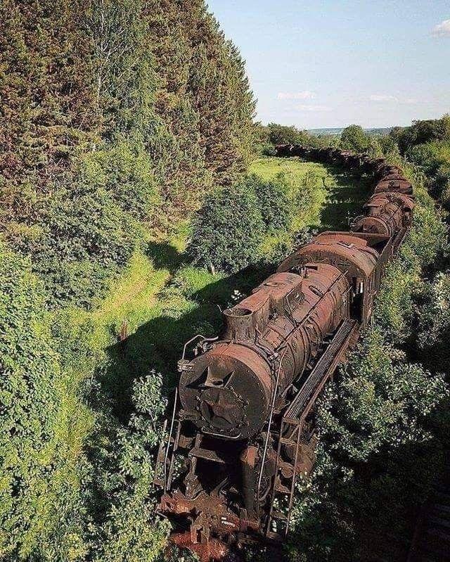 Skład kolejowy na Syberii