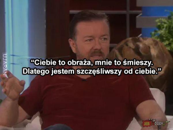 Ricky Gervais i trafna uwaga