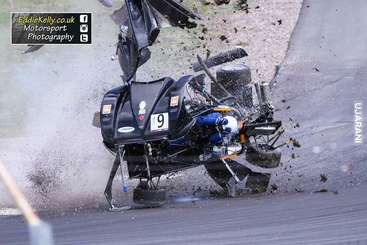 Every racing driver's worst nightmare - a minor collision with another car.