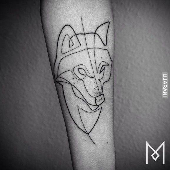 Jednoliniowe tatuaze
