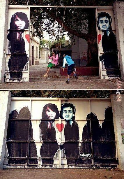 niesamowity to street art