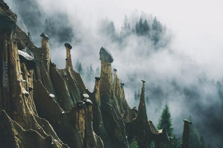 Piramidy ziemne Ritten, Tyrol płd Włochy