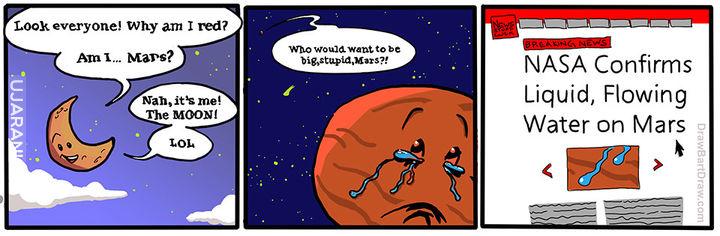 """Już wiadomo skąd ta """"woda"""" na Marsie :P"""
