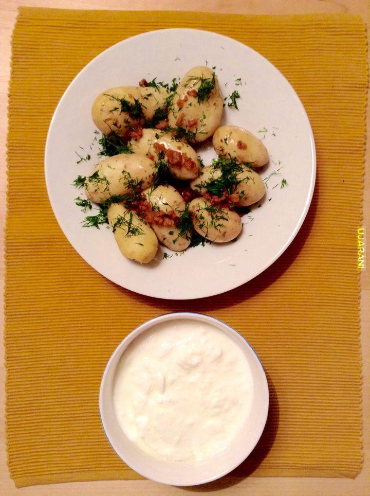 Młode ziemniaki ze zsiadłym mlekiem <3