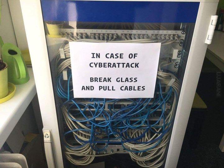 W razie cyberataku :)