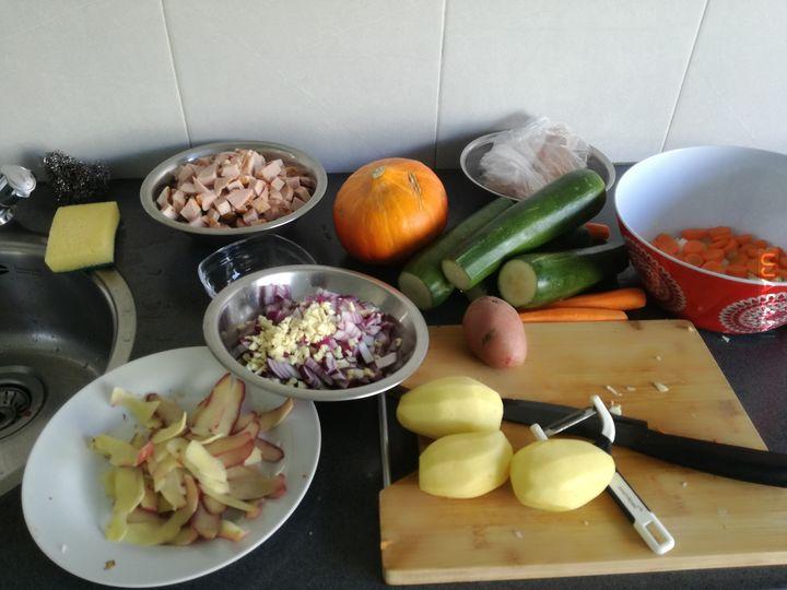 Niedzielny obiadzik. Bigos i krem