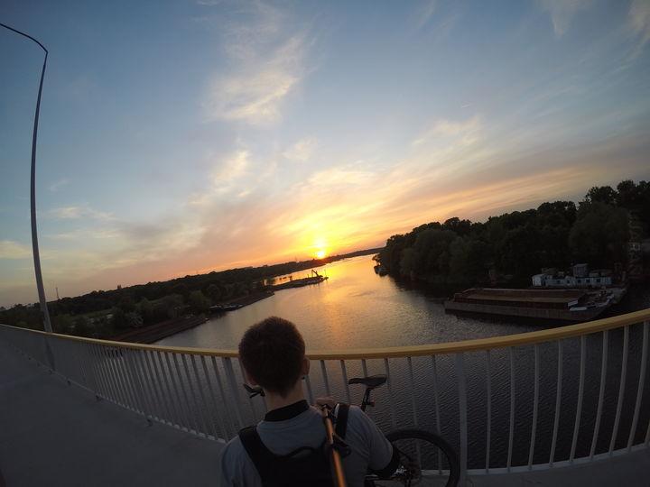 Majowy zachód słońca
