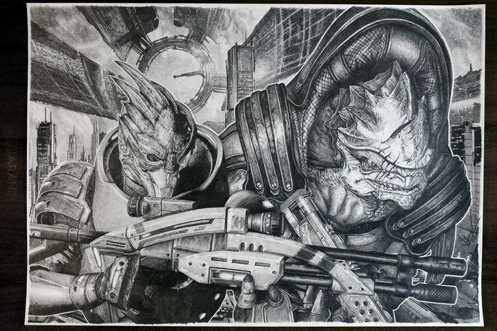 Mass Effect - rysunek własny