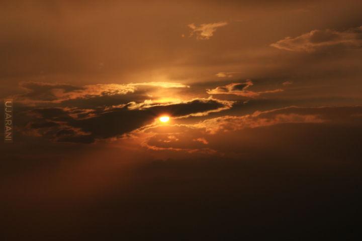 Zachód słońca widziany ze Szczelińca