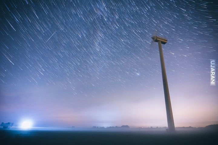 Star-trails  i Drakonidy