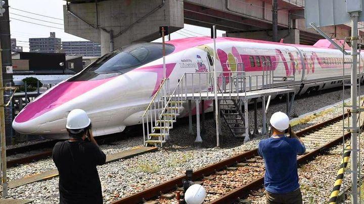 Pociąg Hello Kitty w Japonii