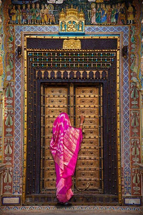 Drzwi, Bikaner, Radżastan, Indie