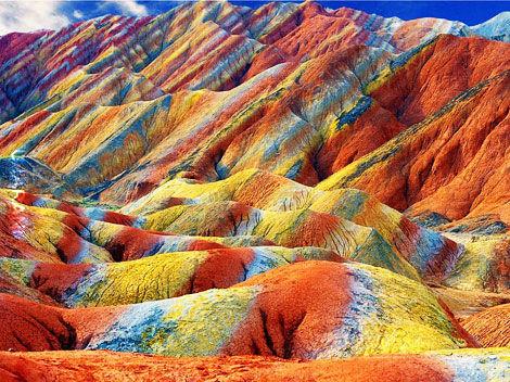 Zhangye Danxia - kolorowe skały
