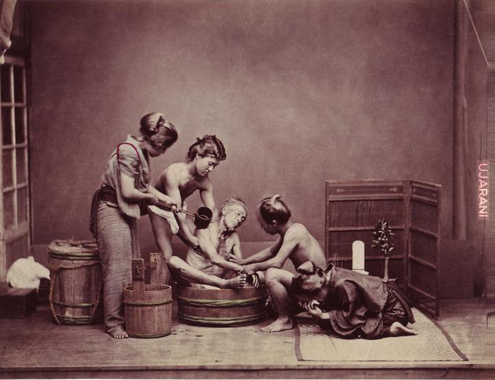 Mycie zwłok ojca, Japonia