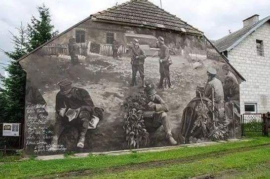 Niesamowity mural w Wiźnie