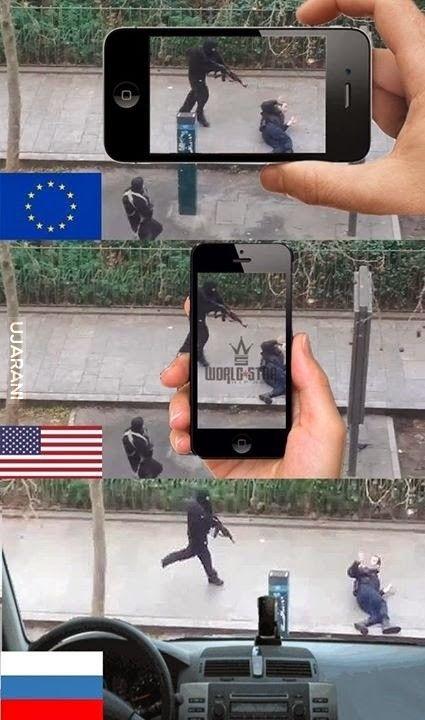 Jak zarejestrowano by to samo wydarzenie w innych krajach.