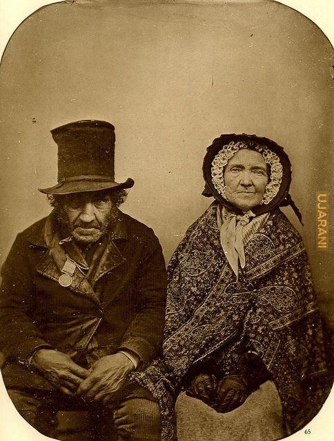 Weteran z Waterloo z żoną, 1850