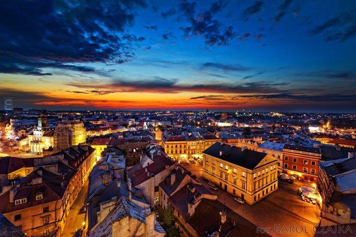 Lublin z Wieży Trynitarskiej