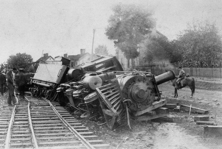 Zmęczona lokomotywa odpoczywa